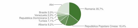 Grafico cittadinanza stranieri - Camerata Picena 2019