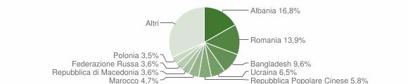 Grafico cittadinanza stranieri - Senigallia 2009