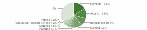 Grafico cittadinanza stranieri - Senigallia 2019