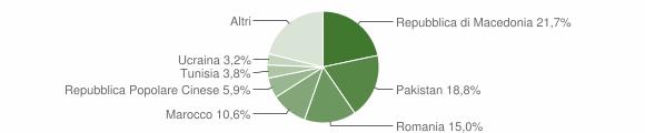 Grafico cittadinanza stranieri - Montelupone 2017