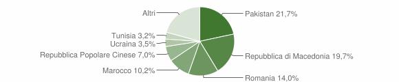 Grafico cittadinanza stranieri - Montelupone 2019