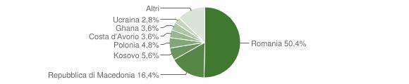 Grafico cittadinanza stranieri - Pieve Torina 2013
