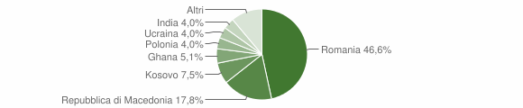 Grafico cittadinanza stranieri - Pieve Torina 2014