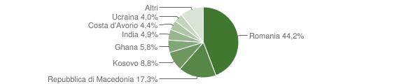 Grafico cittadinanza stranieri - Pieve Torina 2015