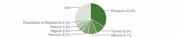 Grafico cittadinanza stranieri - Chiaravalle 2019