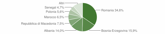 Grafico cittadinanza stranieri - Muccia 2016