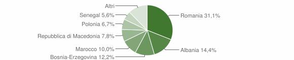 Grafico cittadinanza stranieri - Muccia 2019
