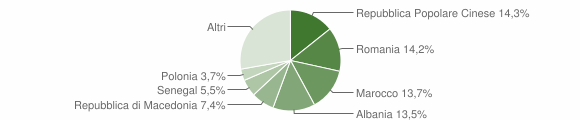 Grafico cittadinanza stranieri - Castel di Lama 2014