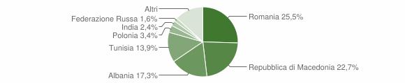 Grafico cittadinanza stranieri - Sassoferrato 2009
