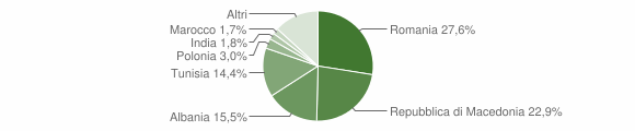 Grafico cittadinanza stranieri - Sassoferrato 2010