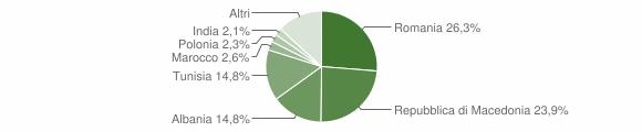 Grafico cittadinanza stranieri - Sassoferrato 2011