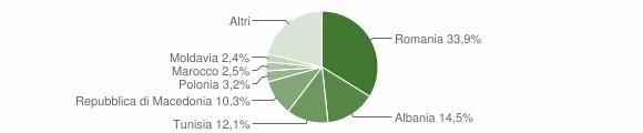Grafico cittadinanza stranieri - Sassoferrato 2019