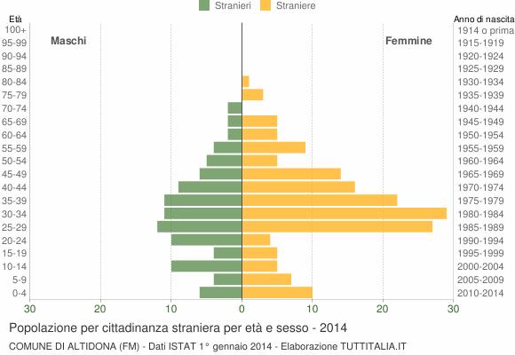 Grafico cittadini stranieri - Altidona 2014