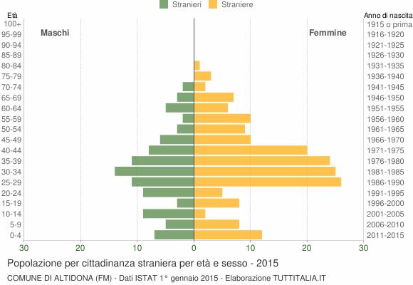 Grafico cittadini stranieri - Altidona 2015