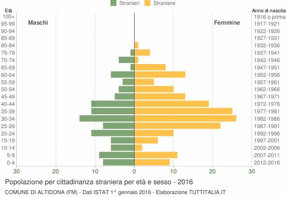 Grafico cittadini stranieri - Altidona 2016