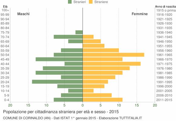 Grafico cittadini stranieri - Corinaldo 2015