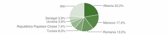 Grafico cittadinanza stranieri - San Costanzo 2014