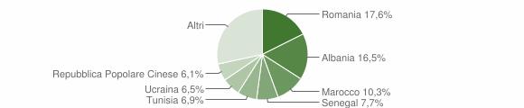 Grafico cittadinanza stranieri - San Costanzo 2019