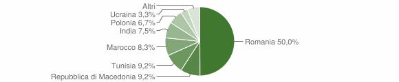 Grafico cittadinanza stranieri - San Paolo di Jesi 2019