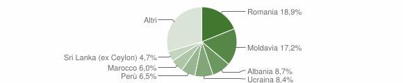 Grafico cittadinanza stranieri - Pesaro 2015