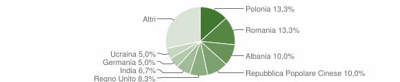 Grafico cittadinanza stranieri - San Marcello 2013