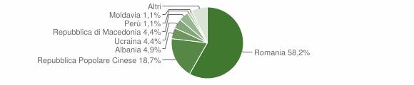 Grafico cittadinanza stranieri - Apecchio 2019