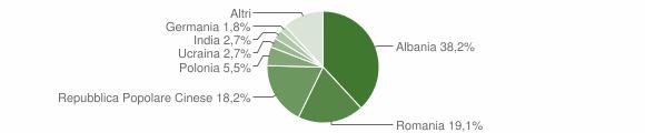 Grafico cittadinanza stranieri - Maltignano 2014