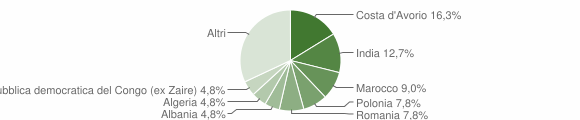 Grafico cittadinanza stranieri - Montecarotto 2011