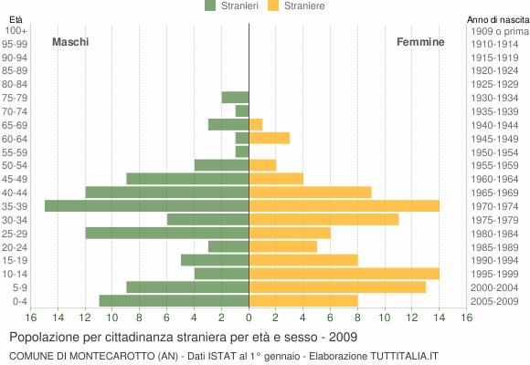 Grafico cittadini stranieri - Montecarotto 2009
