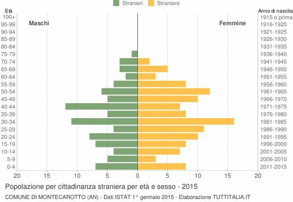 Grafico cittadini stranieri - Montecarotto 2015