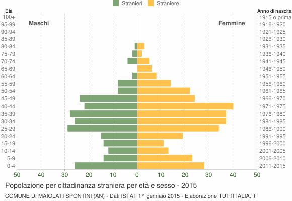 Grafico cittadini stranieri - Maiolati Spontini 2015