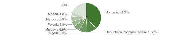 Grafico cittadinanza stranieri - Monsano 2017
