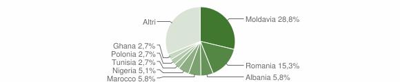 Grafico cittadinanza stranieri - Camerano 2009