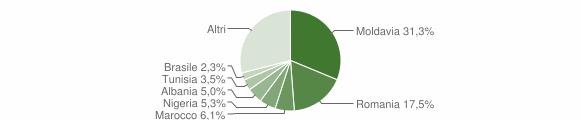 Grafico cittadinanza stranieri - Camerano 2010