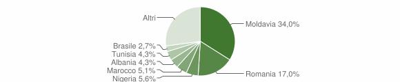 Grafico cittadinanza stranieri - Camerano 2011