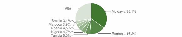 Grafico cittadinanza stranieri - Camerano 2013