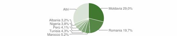 Grafico cittadinanza stranieri - Camerano 2017