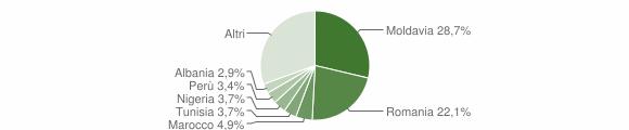 Grafico cittadinanza stranieri - Camerano 2018