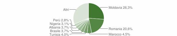 Grafico cittadinanza stranieri - Camerano 2019
