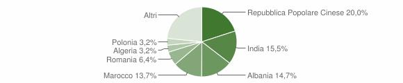 Grafico cittadinanza stranieri - Sant'Elpidio a Mare 2008