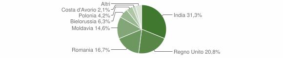 Grafico cittadinanza stranieri - Cessapalombo 2019