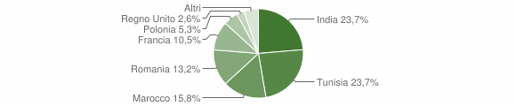 Grafico cittadinanza stranieri - Pozzilli 2013