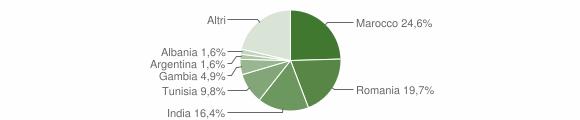 Grafico cittadinanza stranieri - Pozzilli 2019
