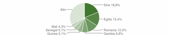 Grafico cittadinanza stranieri - Sant'Agapito 2018