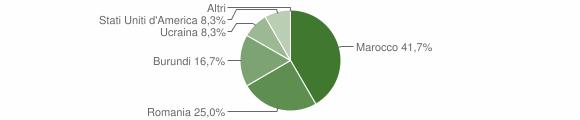 Grafico cittadinanza stranieri - Longano 2019