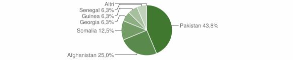 Grafico cittadinanza stranieri - Castelpizzuto 2018