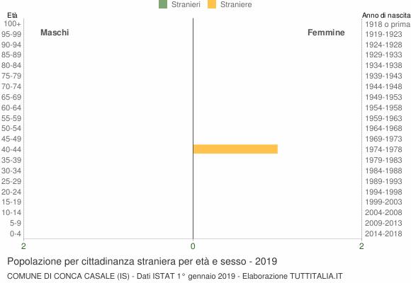 Grafico cittadini stranieri - Conca Casale 2019
