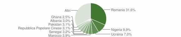 Grafico cittadinanza stranieri - Campobasso 2019