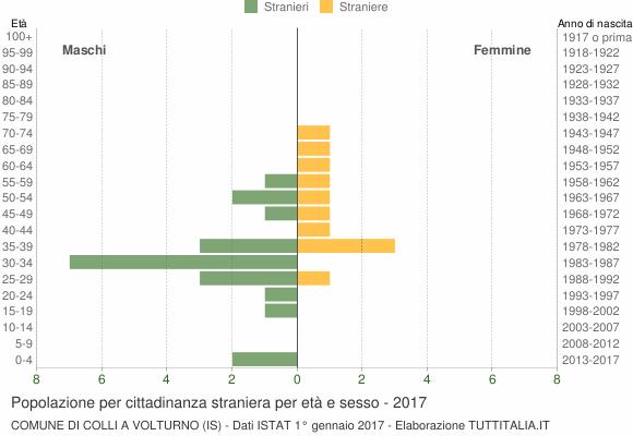 Grafico cittadini stranieri - Colli a Volturno 2017