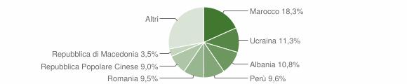 Grafico cittadinanza stranieri - Borgosesia 2019